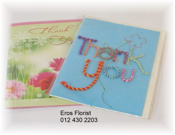 large thank you message card