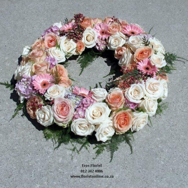 Pastel open doughnut wreath