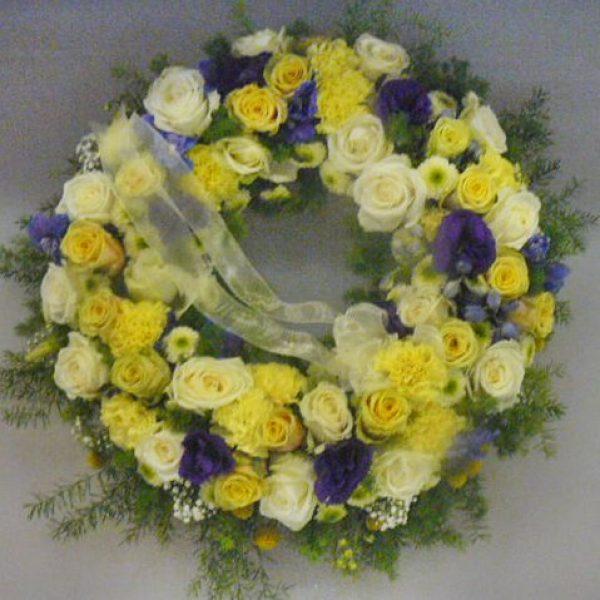 Yellow traditional wreath