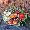orange essence flower basket
