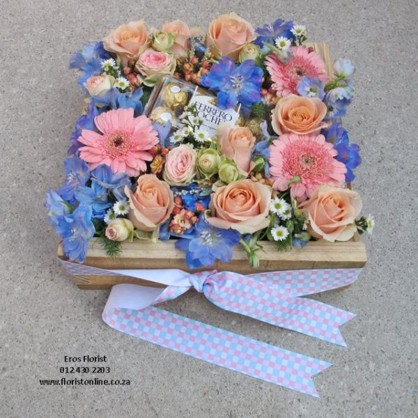 Vintage pastel flower arrangement
