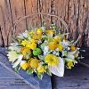 Mellow yellow flower basket