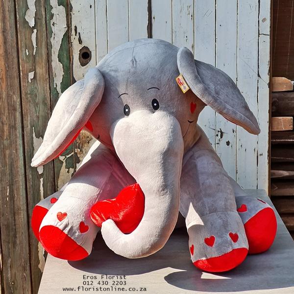 hefty soft toy elephant